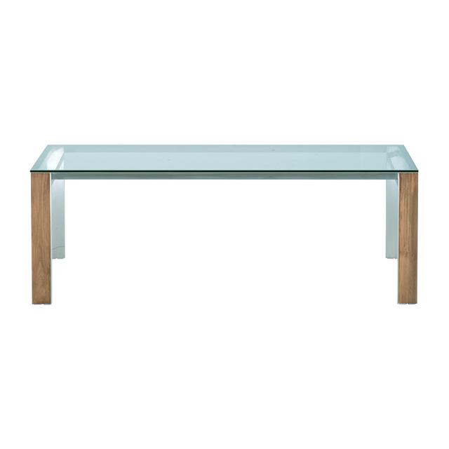 トロイ レクタングルダイニングテーブル(強化ガラス天板) (TROY-GGM8995THL)
