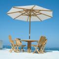 本場南国リゾートを体感!パラソル付 最高級チークのガーデンテーブルセット(BER-ST1)