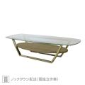 ミュシャ 強化ガラス天板 コーヒーテーブル