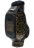 Caddie Bag Dog Pattern Gold