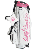 Stand Bag White&Pink&Black