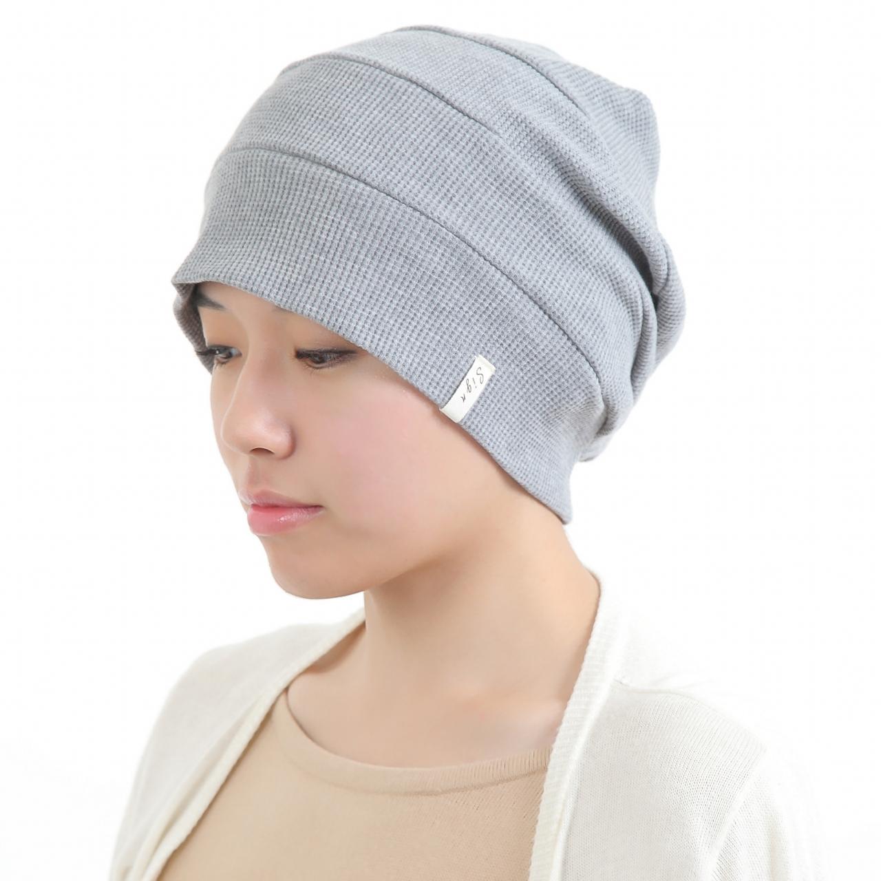 医療用帽子 杢グレーだんだん帽子 2040