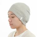 医療用帽子 黒ボーダー 2011
