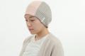 医療用帽子 パネル帽子 ピンク・黒ボーダー 2127