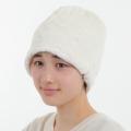 医療用帽子 ボア帽子 ホワイト 冬用 2142