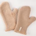 ボアミトン手袋 茶綿 冬用 2153