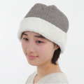 ヘリンボーンボア帽子 グレー 2810