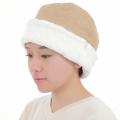 ヘリンボーンボア帽子 モカ 2813
