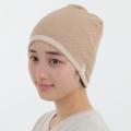 医療用帽子 茶綿エリゼメッシュ 夏用 2413