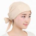 医療用帽子 茶綿バンダナ帽子 2743