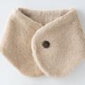医療用帽子 襟マフラー 茶綿 置き撮り写真 2823 tendre オーガニックコットン 冬用