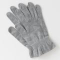 医療用帽子 就寝用手袋 グレー 置き撮り写真 4010 tendre オーガニックコットン 手袋