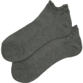オーガニックコットン メッシュ 靴下 かゆみが無い 綿 ストッキング ショート スニーカーソックス グレー 5060