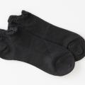 医療用帽子 メッシュスニーカーソックス 黒 置き撮り写真 5061 オーガニックコットン 靴下