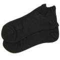 オーガニックコットン メッシュ 靴下 かゆみが無い 綿 ストッキング ショート スニーカーソックス 黒 5061
