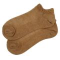 オーガニックコットン メッシュ 靴下 かゆみが無い 綿 ストッキング ショート スニーカーソックス 茶綿 5063