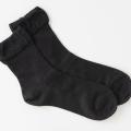 医療用帽子 メッシュソックス 黒 置き撮り写真 5071 オーガニックコットン 靴下