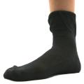 オーガニックコットン メッシュ 靴下 かゆみが無い 綿 ストッキング ソックス 黒 5071