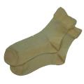 オーガニックコットン メッシュ 靴下 かゆみが無い 綿 ストッキング ソックス 白 5072