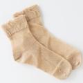 医療用帽子 メッシュソックス 茶綿 置き撮り写真 5073 オーガニックコットン 靴下