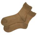 オーガニックコットン メッシュ 靴下 かゆみが無い 綿 ストッキング ソックス 茶綿 5073