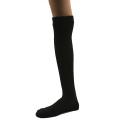 オーガニックコットン メッシュ 靴下 かゆみが無い 綿 ストッキング ハイソックス 黒 5081