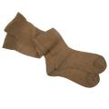 オーガニックコットン メッシュ 靴下 かゆみが無い 綿 ストッキング ハイソックス 茶 5083