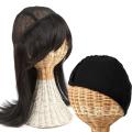 医療用 髪の毛付き ウィッグ帽子 ウィッグに見える帽子 ロング インナーキャップのセット w-02_2set