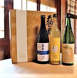 【2021お中元ギフト】3本セット 天狗舞【OHARA KOSON山廃純米大吟醸・クラフトリキュールYUZU・・超辛純米酒】
