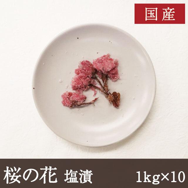 桜の花塩漬け1kg×10