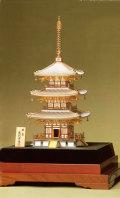 銀製 三重塔