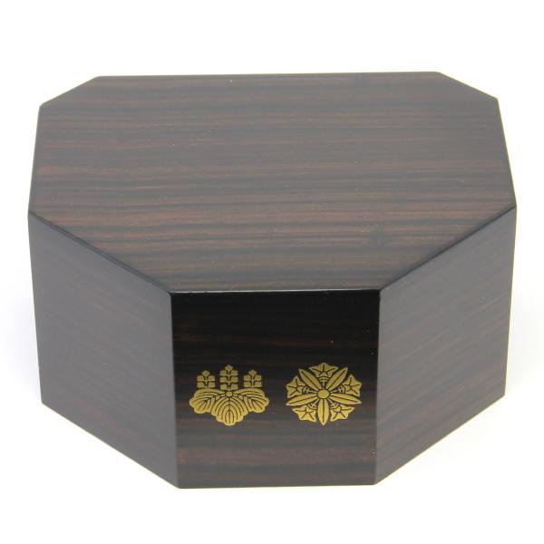《限定価格》木製八角仏像台 両山紋付