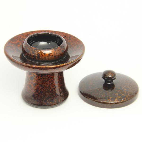 木製 茶台 群雲塗 3.0寸(箱なし)
