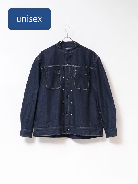 10オンスデニムバータックシャツジャケット