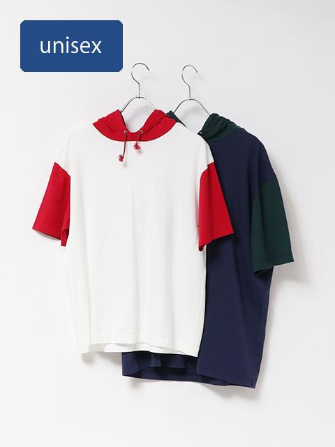 コーマ天竺フード半袖Tシャツ