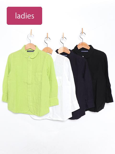リネンエスプリ七分袖シャツ