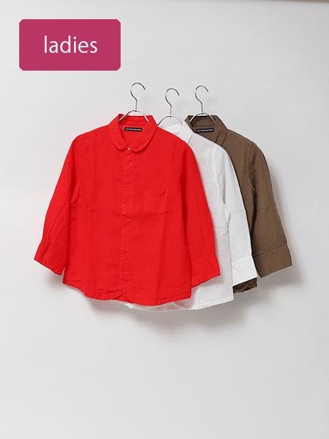 60リネンエスプリ七分袖シャツ