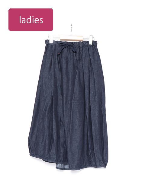 6オンスデニムバレルロングスカート