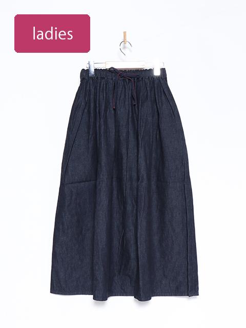 6オンスデニムマキシギャザースカート