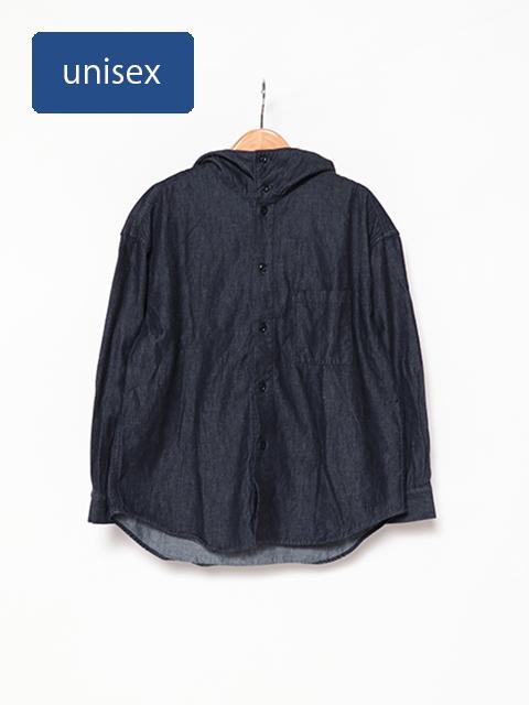 6オンスデニムフーディーシャツ
