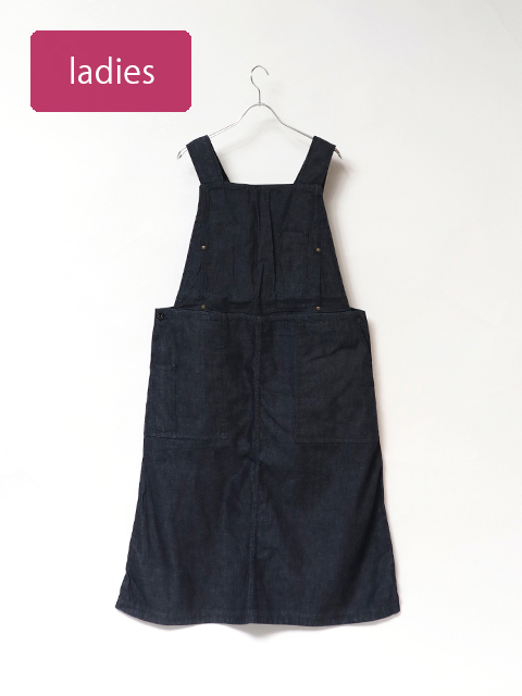 8オンスデニムステッチジャンパースカート