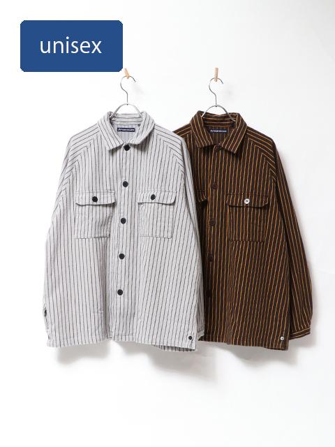 ビックマックストライプラグランシャツジャケット