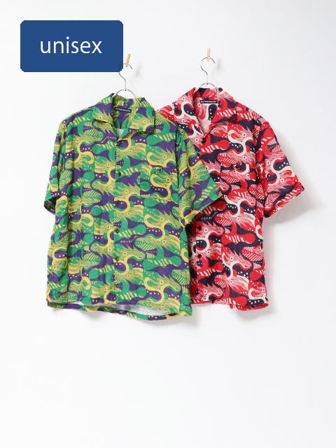 ドラゴンダブルガーゼイタリアンカラーシャツ