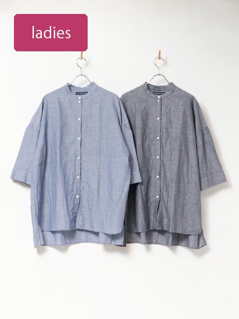 イタリアンクリスピーバックタックロングシャツ
