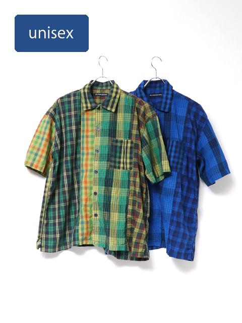 マドラスチェックミックスベニスビーチ半袖シャツ