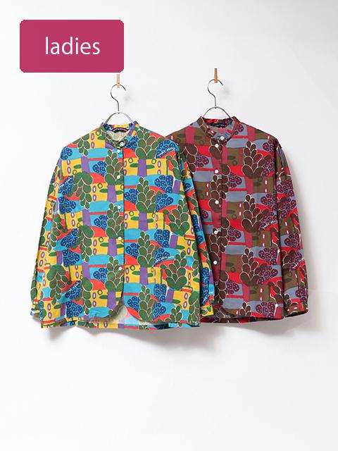 メキシコサテンバックスリットシャツ