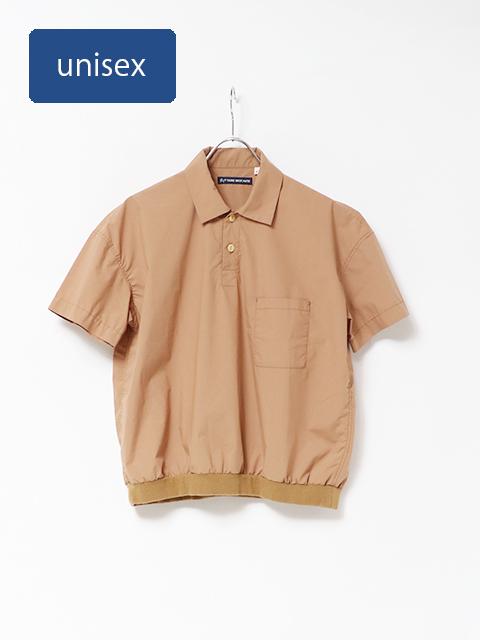 マイクロコットンタイプロードベニスビーチリブポロシャツ