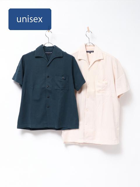 梨地天竺イタリアンカラーシャツ