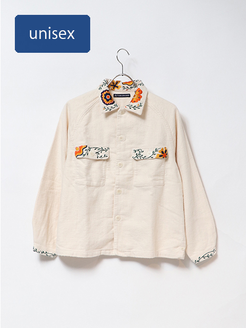 Planta刺繍ラグランシャツジャケット