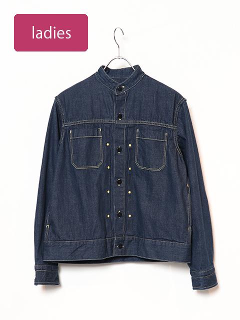 セルビッチ11オンスデニムバータックシャツジャケット